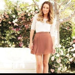 LC Lauren Conrad Pleated Skirt